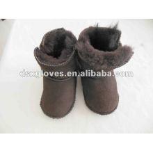 Мода овчины кожа обувь для новорожденных