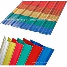 Eco-Friendly 3-Layers UPVC corrugado termo plástico para techos