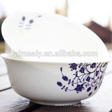 gros petit bol de nouilles en céramique blanche