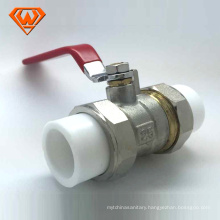 China manufacture Brass ball valve with PPR double union made in China