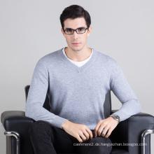 heißer verkauf hohe qualität männer v-ausschnitt woll stricken pullover