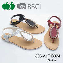 Cheap Price Beautiful Ladies Sandals Shoe with Diamond