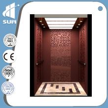 Mirror Stainless Steel Marble Floor Villa Elevator