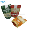 Hot sale shenzhen supplier half transparent packaging for dog treat pouch