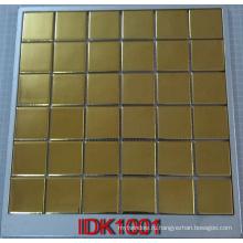 Золотисто-керамическая металлическая мозаика для ванной комнаты