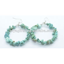 Turquoise Chip Gemstone Earring