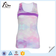 Women Custom Design Sublimation Singlet Dry Fit Running Wear