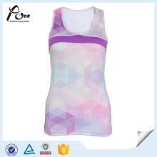 Mulheres Custom Design Sublimação Singlet Dry Fit Running Wear