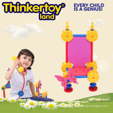 Brinquedos Criativos Bloco de Construção para Crianças em Forma de Cadeira
