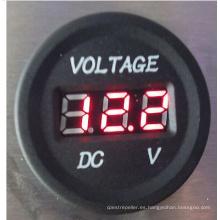 Cargador del coche de los voltímetros de DC 12-24V Digital