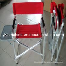 Directeur de métal pliante chaise avec Table d'appoint (XY-144B2)