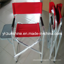 Metal Director Folding Chair with Side Table (XY-144B2)