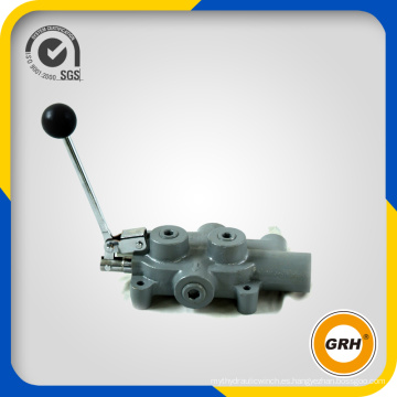 Válvula divisora de registro de control manual hidráulico 100L / Min para divisor de troncos