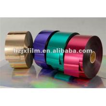 Película metalizada del ANIMAL DOMÉSTICO / película del grado del hilado / película de aluminio