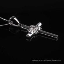 Collar de plata de la joyería de la forma de la cruz del estilo moderno de la manera