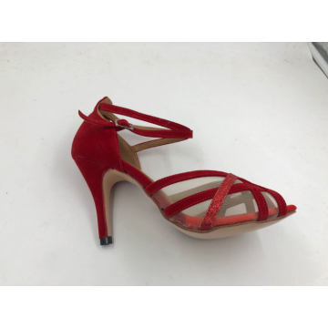 Filles Rouge Chaussures Latines Avec Mesh