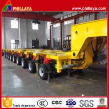 9 Reihen 18 Achsen 250 Tonnen Hydraulischer modularer Anhänger