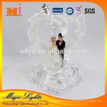 Die Braut und der Bräutigam-Hochzeits-Kuchen-Dekoration