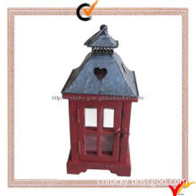Handcrafted wooden candle lantern