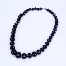 Graduate Form von 10mm bis 20mm schwarz Achat Halskette