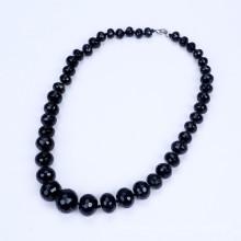 Высшая форма от 10 мм до 20 мм черный агат ожерелье
