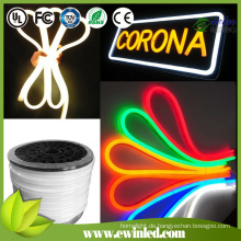 Milk White / Color Jacke LED Neon Flex mit 10 Farben Glow