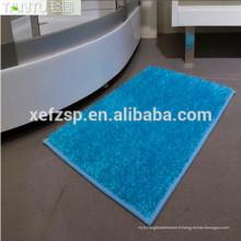 carré hirsutes 100% polyester microfibre machine à touffeter tapis pliant longue pile 100% polyester machine lavable tapis d'entrée