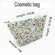 beautiful cosmetic bag supplier pu mesh cosmetic bag
