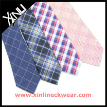 Mens Silk Wool Tie with Beautiful Checks Wholesale Wool Necktie