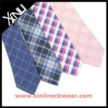 Мужские шелк шерсть галстук с красивыми проверяет Оптовая шерсти галстук