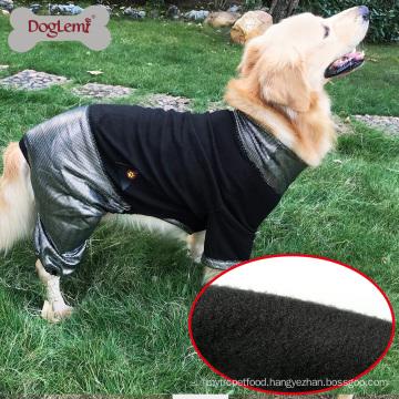 HeatPaw Heat Reflective Dog Apparel Reversible Fleece Large Dog Jacket Pet Clothes For Dog