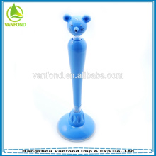 2015 new novelty animal head stand ball pen for promotion