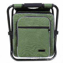 Fishing Backpack with Large Opening and Drawing Rope, Detachable and Adjustable Stool
