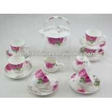 hot sale teaset bulk thin wave cup& saucer fine bone china tea cup