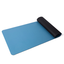 1/2 inch extra thick high density exercise  laminated solid color  two double layer yoga pu rubber mat for pilates fitness