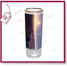 Golden Rim Sublimation enduite Photo personnalisé imprimé verre à vin