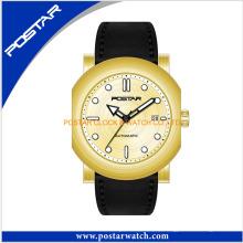 Precio competitivo Relojes de cuarzo con correa de cuero genuino