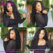 Qingdao wholesale cheap curly human hair wigs for black women100% natural virgin human hair curly wigs for black women