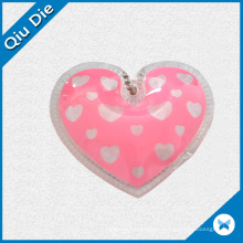 High Quality and Fancy Design Plastic Leather Filled Hang Tag for Down Coat