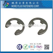 Fabricante en Taiwán acero inoxidable E tipo anillo de retención del anillo E