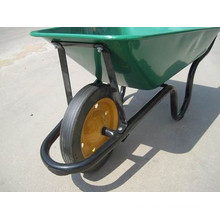 Wb3800 Sri Lanka 60L Market Yellow Color Concrete Wheelbarrow