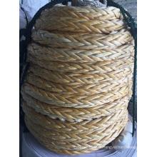 Corde de mouillage de corde de polyéthylène de poids moléculaire ultra élevé de 12 brins