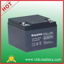 Elektrische Fahrrad-Batterie 24ah 12V tiefe Zyklus-Gel-Batterie