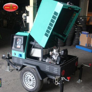Mobile Tow Behind Light Tower Generator
