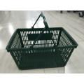 Supermarket Double Handle Shopping Plastic Basket