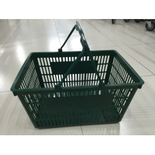 Supermarket Double Handle Shopping Plastic Basket