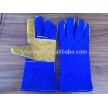 14 inches cow split leather working gloves with reinforced full palm thumb and index finger