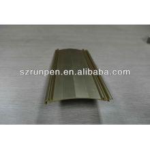 Disipador de calor de aluminio anodizado de extrusión de oro