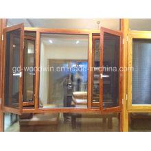 Окно с теплоизоляцией с москитной сеткой