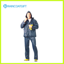 Men′s Polyester PVC Raincoat with Pants (RPY-063)